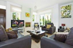 Гостиная. Кипр, Фиг Три Бэй Протарас : Роскошная вилла с великолепным видом на Средиземное море, с 3-мя спальнями, 2-мя ванными комнатами, с бассейном, солнечной террасой с патио, lounge-зоной и каменным барбекю, расположена недалеко от пляжа Fig Tree Bay