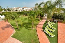 Территория. Кипр, Центр Айя Напы : Стильная двухэтажная вилла с 5-ю спальнями, с большим бассейном, 3-мя балконами, солнечной террасой с патио и барбекю