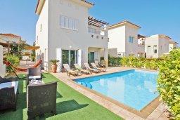 Фасад дома. Кипр, Пернера Тринити : Привлекательная двухэтажная вилла с 3-мя спальнями, с чудесным садиком, бассейном и верандой