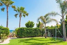 Территория. Кипр, Ионион - Айя Текла : Потрясающая вилла с видом на Средиземное море, с 4-мя спальнями, 3-мя ванными комнатами, с бассейном, в окружении пышного зелёного сада, с тенистой террасой с патио и барбекю, расположена в уединенном месте на берегу моря