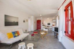 Гостиная. Кипр, Санрайз Протарас : Потрясающий апартамент в традиционном греческом стиле с видом на Средиземное море, с 2-мя спальнями, зелёным садом с патио и барбекю, расположен в тихом районе Profitis Elias Hill