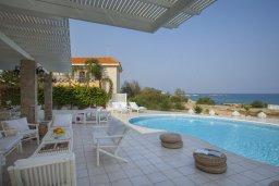 Бассейн. Кипр, Каво Марис Протарас : Просторная вилла на берегу моря с 4-мя спальнями, с частным бассейном, внутренним двориком с современной садовой мебелью