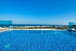 Бассейн. Кипр, Коннос Бэй : Шикарная вилла с потрясающей солнечной террасой и великолепным панорамным видом на Средиземное море, с 4-мя спальнями, с бассейном, тенистой террасой с патио и традиционным кипрским барбекю