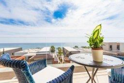 Вид на море. Кипр, Св. Рафаэль Лимассол : Роскошная пляжная вилла с панорамным видом на Средиземное море, с 4-мя спальнями, с бассейном, сауной и игровой комнатой