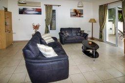 Гостиная. Кипр, Пейя : Великолепная вилла с видом на море, с 3-мя спальнями, с бассейном, солнечной террасой и барбекю