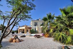 Территория. Кипр, Си Кейвз : Превосходная вилла с видом на море, с 4-мя спальнями, с бассейном, тенистой террасой и барбекю