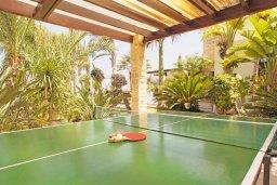 Развлечения и отдых на вилле. Кипр, Фиг Три Бэй Протарас : Шикарная вилла с 3-мя спальнями, 3-мя ванными комнатами, с бассейном, в окружении красивого сада, с настольным теннисом, бильярдом и lounge-зоной