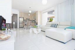 Гостиная. Кипр, Пернера : Современная вилла с видом на Средиземное море, с 3-мя спальнями, 2-мя ванными комнатами, с бассейном, солнечной террасой с патио, lounge-зоной и барбекю, расположена около пляжа Pernera Beach