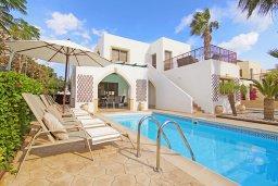 Фасад дома. Кипр, Санрайз Протарас : Прекрасная двухэтажная вилла с 3-мя спальнями, с бассейном, солнечной террасой и традиционной печью