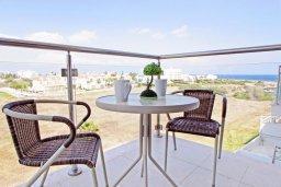 Балкон. Кипр, Фиг Три Бэй Протарас : Современный апартамент с видом на Средиземное море, гостиной, отдельной спальней, расположен в комплексе с бассейном, тренажерным залом, теннисным кортом, недалеко от пляжа Fig Tree Bay