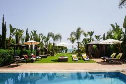Территория. Кипр, Ионион - Айя Текла : Шикарная вилла на побережье Айя Теклы, с 5-ю спальнями, с бассейном, зелёным садом и потрясающим панорамным видом на Средиземное море