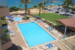 Бассейн. Кипр, Фиг Три Бэй Протарас : Уютный апартамент с 3-мя спальнями и шикарным видом на море, в комплексе с общим бассейном
