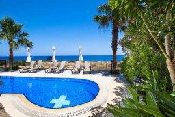 Бассейн. Кипр, Коннос Бэй : Роскошная вилла с панорамным видом на море, с 4-мя спальнями, с бассейном, большим патио и бильярдом