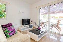 Гостиная. Кипр, Каво Марис Протарас : Шикарная вилла с 3-мя спальнями, 3-мя ванными комнатами, с бассейном и зелёным двориком с барбекю
