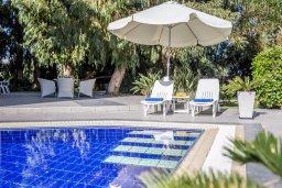Зона отдыха у бассейна. Кипр, Каво Марис Протарас : Шикарная вилла с 4-мя спальнями, с большим бассейном и просторным зелёным садом с патио и барбекю