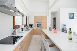 Кухня. Кипр, Санрайз Протарас : Элегантная вилла с видом на море, с 4-мя спальнями, с большим бассейном и зелёной территорией, с патио, барбекю и баскетбольной площадкой