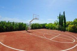 Территория. Кипр, Санрайз Протарас : Элегантная вилла с видом на море, с 4-мя спальнями, с большим бассейном и зелёной территорией, с патио, барбекю и баскетбольной площадкой