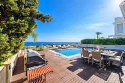 Бассейн. Кипр, Коннос Бэй : Современная вилла с панорамным видом на море, с 5-ю спальнями, с бассейном, потрясающим патио и барбекю, расположена на первой линии моря