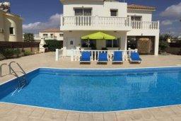Вид на виллу/дом снаружи. Кипр, Сиренс Бич - Айя Текла : Восхитительная вилла с видом на море, с 3-мя спальнями, с бассейном, патио и барбекю