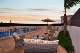 Бассейн. Кипр, Нисси Бич : Шикарная вилла с 4-мя спальнями, с бассейном, патио и барбекю, расположена в центре Айя-Напы