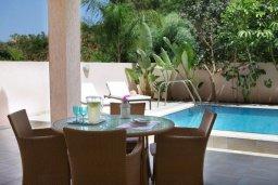 Обеденная зона. Кипр, Пернера : Просторная вилла с бассейном и барбекю, 3 спальни, 2 ванные комнаты, парковка, Wi-Fi