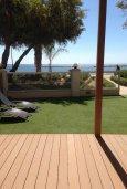 Терраса. Кипр, Гермасойя Лимассол : Апартамент в 50 метрах от пляжа, с гостиной, отдельной спальней и террасой с видом на море