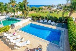 Бассейн. Кипр, Каппарис : Прекрасная вилла с видом на море, с 3-мя спальнями, с бассейном, патио и барбекю, расположена в 100 метрах от пляжа