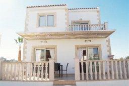 Фасад дома. Кипр, Санрайз Протарас : Уютная вилла с видом на море, с 2-мя спальнями, с бассейном, патио и барбекю
