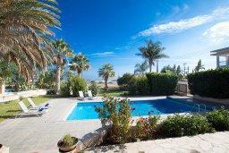Бассейн. Кипр, Пернера : Великолепная вилла с видом на Средиземное море, с 5-ю спальнями, с бассейном, просторной зелёной территорией с патио и барбекю