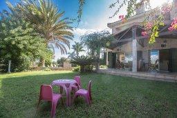 Территория. Кипр, Пернера : Великолепная вилла с видом на Средиземное море, с 5-ю спальнями, с бассейном, просторной зелёной территорией с патио и барбекю