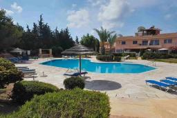 Бассейн. Кипр, Пафос город : Апартамент в комплексе с бассейном, с гостиной, тремя спальнями, двумя ванными комнатами и балконом