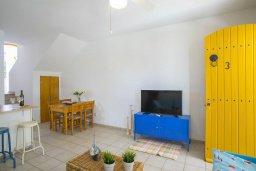 Гостиная. Кипр, Санрайз Протарас : Очаровательный коттедж в традиционном греческом стиле с 2-мя спальнями, уютным двориком с патио, расположен на холме Ayios Elias
