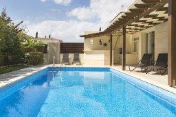 Бассейн. Кипр, Декелия - Ороклини : Уютная вилла с бассейном и двориком в 100 метрах от пляжа, 4 спальни, 4 спальни, барбекю, парковка, Wi-Fi