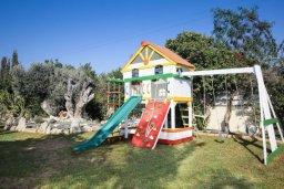 Детская площадка. Кипр, Мазотос : Роскошная вилла с большим бассейном и зеленой территорией, 4 спальни, 5 ванных комнат, джакузи, домашний кинотеатр, кабинет, барбекю, детская площадка, парковка, Wi-Fi