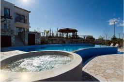 Бассейн. Кипр, Помос : Роскошная вилла с террасой на крыше с панорамным видом на море, с 5-ю спальнями, с пейзажным бассейном, джакузи и lounge-зоной, расположена в горах Ayia Marina