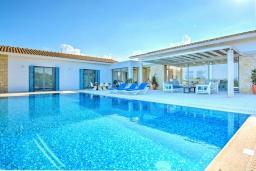 Вид на виллу/дом снаружи. Кипр, Лачи : Эксклюзивная вилла с видом на море, с 3-мя спальнями, с бассейном, тенистой террасой с патио, в окружении пышного зелёного сада, расположена в 350 метрах от пляжа Neo Chorio 2 Beach