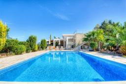 Вид на виллу/дом снаружи. Кипр, Лачи : Роскошное бунгало с террасой на крыше с панорамным видом на море и lounge-зоной, с 3-мя спальнями, с бассейном, джакузи, летней кухней и барбекю, расположено около пляжа Souli Beach