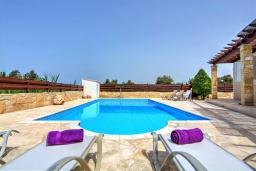 Бассейн. Кипр, Полис город : Роскошное бунгало с 3-мя спальнями, с бассейном, тенистой террасой с патио и барбекю, в окружение красивого зелёного сада