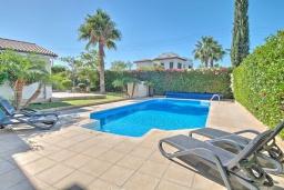Бассейн. Кипр, Полис город : Роскошная вилла с террасой на крыше с потрясающим видом на море, с 3-мя спальнями, с бассейном, патио и барбекю, расположена в 100 метрах от пляжа Polis Beach