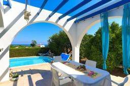 Терраса. Кипр, Аргака : Очаровательная кипрская вилла с 3-мя спальнями, с бассейном, в окружение лимонных и апельсиновых деревьев, с тенистой террасой с патио и барбекю
