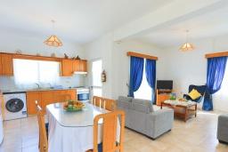 Обеденная зона. Кипр, Аргака : Очаровательная кипрская вилла с 3-мя спальнями, с бассейном, в окружение лимонных и апельсиновых деревьев, с тенистой террасой с патио и барбекю