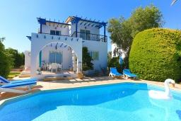 Вид на виллу/дом снаружи. Кипр, Аргака : Очаровательная кипрская вилла с 3-мя спальнями, с бассейном, в окружение лимонных и апельсиновых деревьев, с тенистой террасой с патио и барбекю