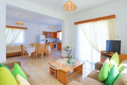 Гостиная. Кипр, Аргака : Очаровательная вилла с 3-мя спальнями, бассейном, пышным зелёным садом, тенистой террасой с патио и барбекю