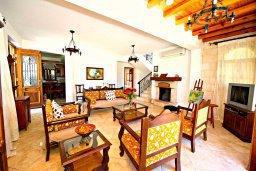 Гостиная. Кипр, Аргака : Роскошная вилла с 3-мя спальнями, с бассейном с водопадом, с уличной барной стойкой, барбекю и ландшафтным садом