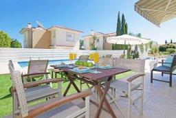 Обеденная зона. Кипр, Фиг Три Бэй Протарас : Удивительная вилла с 3-мя спальнями, 2-мя ванными комнатами, с бассейном, солнечной террасой с патио и барбекю, расположена недалеко от знаменитого пляжа Fig Tree Bay
