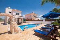Фасад дома. Кипр, Ионион - Айя Текла : Роскошная вилла с бассейном и просторным двориком, 2 спальни, барбекю, парковка, Wi-Fi