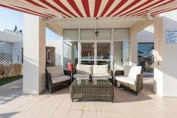 Патио. Кипр, Корал Бэй : Прекрасная вилла на побережье с 3-мя спальнями, с бассейном, тенистой террасой с патио и барбекю, с захватывающим панорамным видом на побережье Coral Bay и Средиземное море