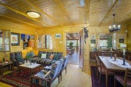 Гостиная. Кипр, Троодос : Очаровательный двухэтажный деревянный коттедж с большой зелёной территорией, 3-мя спальнями, тенистой террасой, барбекю и потрясающим видом на горы и деревню Spilia