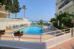 Бассейн. Кипр, Гермасойя Лимассол : Апартамент в 100 метрах от моря в комплексе с бассейном, с гостиной, двумя спальнями и балконом с видом на море