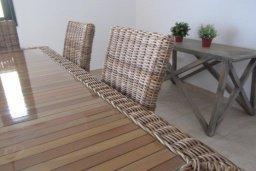 Обеденная зона. Кипр, Писсури : Великолепная вилла с бассейном и видом на море, 3 спальни, 2 ванные комнаты, дворик с барбекю, парковка, Wi-Fi